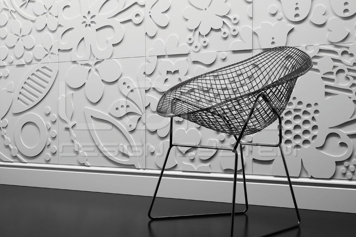 Panele Dekoracyjne 3d Floral Beton Architektoniczny Loft System