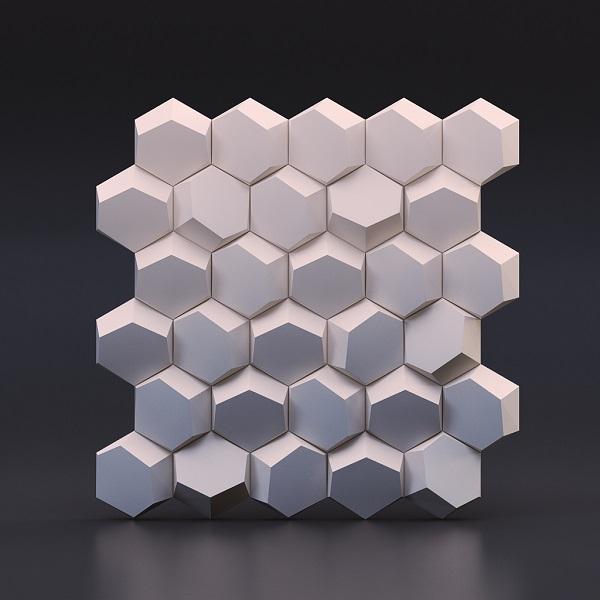 Panel Dekoracyjny ścienny 3d Hexago